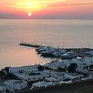 Myconos Island, Greece, Sunset by Vitta