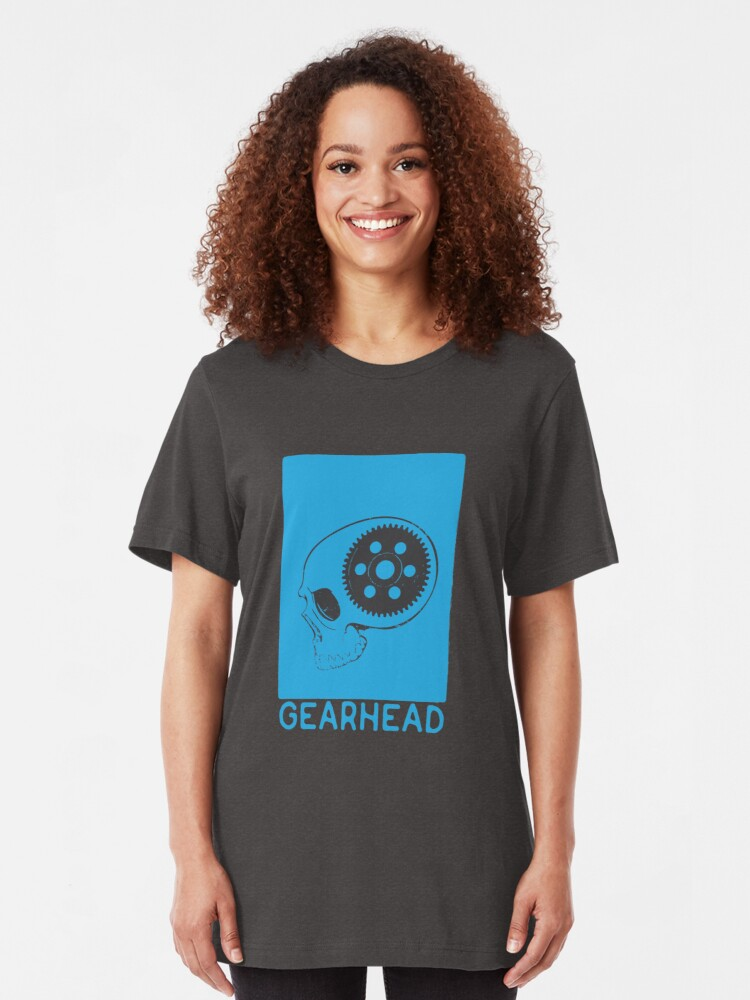 Alternate view of GEARHEAD-Blue Slim Fit T-Shirt