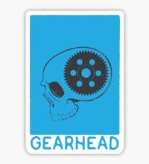 GEARHEAD-Blue Sticker
