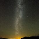 Milky Way Over Clatteringshaws Loch by derekbeattie