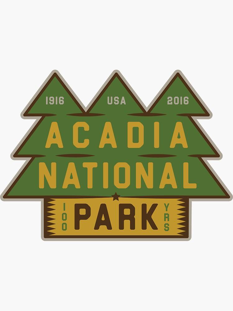 Parque Nacional Acadia 100 cumpleaños gráfico de alexyarrish