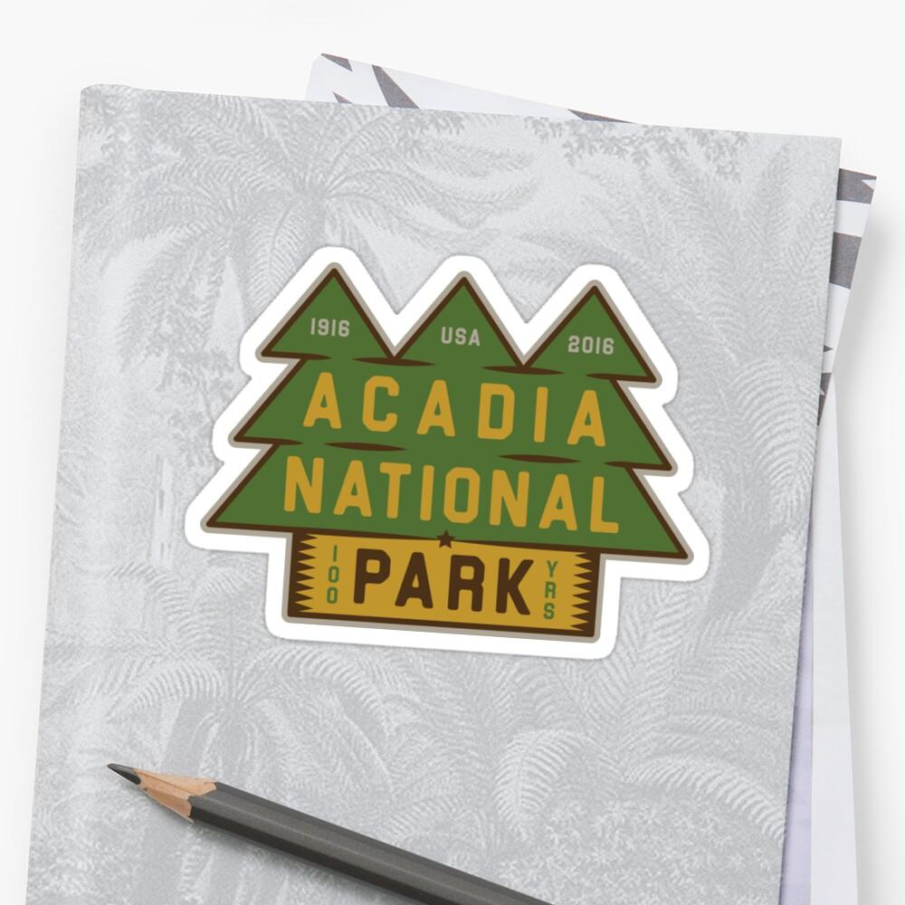 Parque Nacional Acadia 100 cumpleaños gráfico Pegatinas