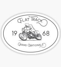 Flat Track Grand Nationals - black Sticker