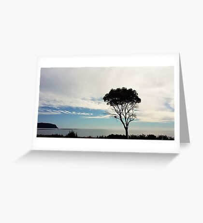 The Sea and a Tree Greeting Card