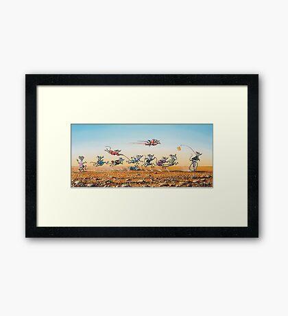 Leaving the Rat Race Framed Print