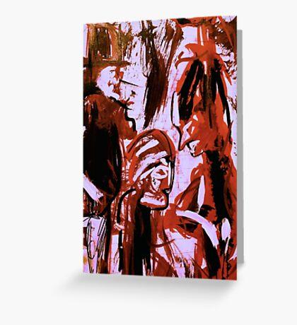 dark spirits......saving face shaman Greeting Card