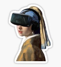 Girl With The Oculus Rift Sticker