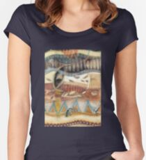 Tropical Fusions (Panel 2 of 4) Women's Fitted Scoop T-Shirt