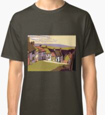 Gold Hill - Original linocut by Francesca Whetnall Classic T-Shirt