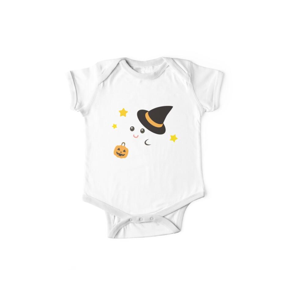5c382418b4c9 'Cute Kawaii Ghost Halloween Print Graphic Funny' Kids Clothes by  JapaneseInkArt