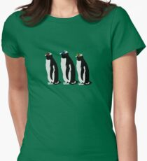 3 Penguins Women's Fitted T-Shirt