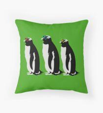 3 Penguins Throw Pillow