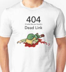 Error 404 Zelda Dead Link T-Shirt