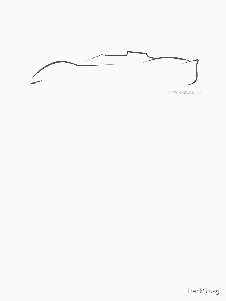 Profile Silhouette Ferrari P4 - black by TrackSwag