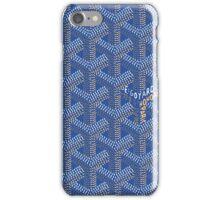Goyard case blue iPhone Case/Skin