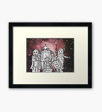 Robot Holiday 1 Framed Print