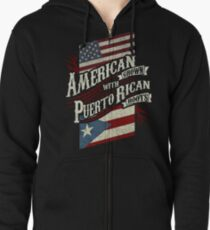 American Grown with Puerto Rican roots Zipped Hoodie