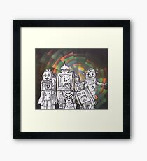 Robot Holiday 12 Framed Print