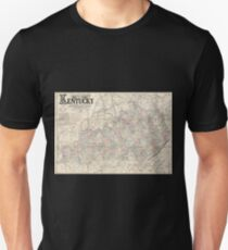 0120 Railroad Maps Lloyd's official map of the state of Kentucky compiled from actual surveys and official documents showing every rail road rail road station with the T-Shirt