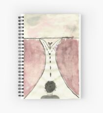 Fork in the Road - Watercolor Spiral Notebook