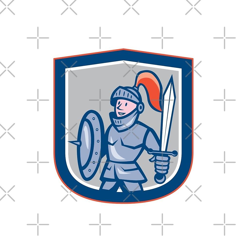 Knight Shield Sword Shield Cartoon by patrimonio