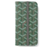 Goyard case green iPhone Wallet/Case/Skin