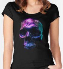 Iridescent Skull  Women's Fitted Scoop T-Shirt