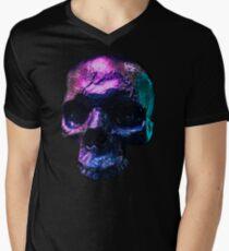 Iridescent Skull  Men's V-Neck T-Shirt