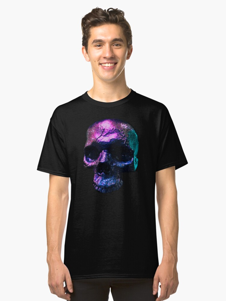 Iridescent Skull  Classic T-Shirt Front