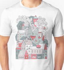 Town cat tea party Unisex T-Shirt