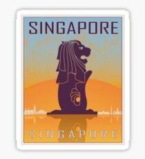 Singapore vintage poster Sticker