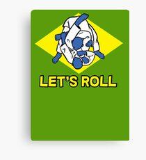 Brazilian jiu-jitsu (BJJ) Let's roll Canvas Print
