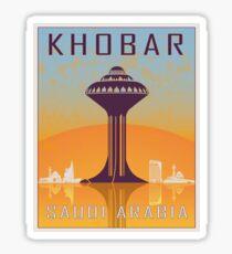 Khobar vintage poster Sticker