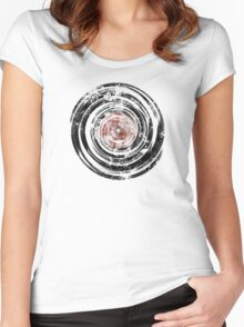 Old Vinyl Records Urban Grunge Women's Fitted Scoop T-Shirt