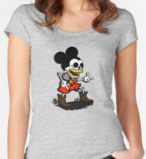 Skeleton mickey zombie mouse Women's Fitted Scoop T-Shirt
