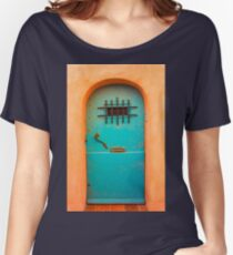 Vintage blue door Women's Relaxed Fit T-Shirt