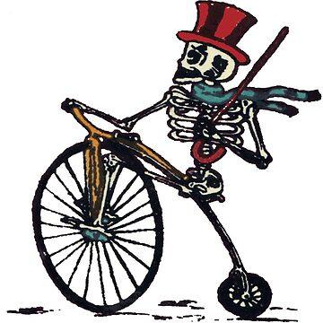 Penny Farthing Skull Skeleton by fatbike