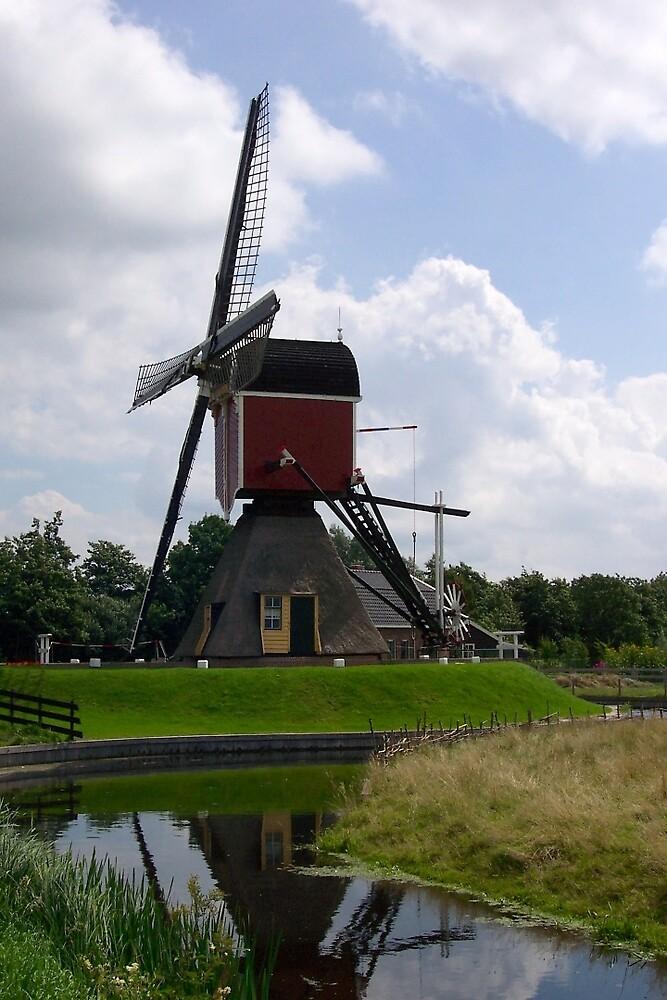 Post mill (Lagenwaardse Molen) by Morag Anderson
