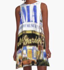 "Pixels Print ""MAMMA MIA"" A-Line Dress"