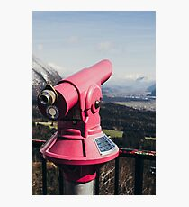 Pink Mountain Telescope Photographic Print