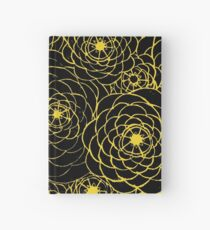 Yellow Spirals Hardcover Journal