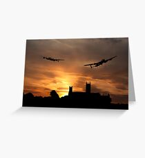 Lincolnshire Lancasters  Greeting Card