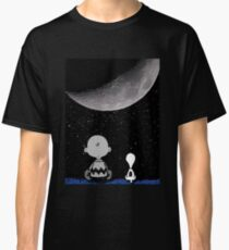 snoopy and charlie night sky Classic T-Shirt