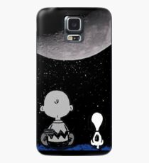 snoopy and charlie night sky Case/Skin for Samsung Galaxy