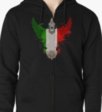 The Art Painting Of Italy Zipped Hoodie