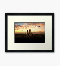 Lancs over Lincoln  Framed Print