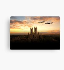 Lancs over Lincoln  Canvas Print