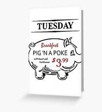 Pig 'n a Poke Greeting Card