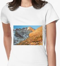 First Light at Longs Peak Women's Fitted T-Shirt