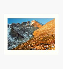 First Light at Longs Peak Art Print